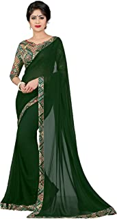 OOMPH! Saree With Blouse Piece