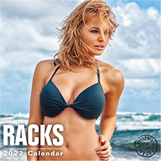 2022 Racks Wall Calendar by Bright Day, 12 x 12 Inch, Hot Sexy Pinup Girls Swimsuit Lingerie Women
