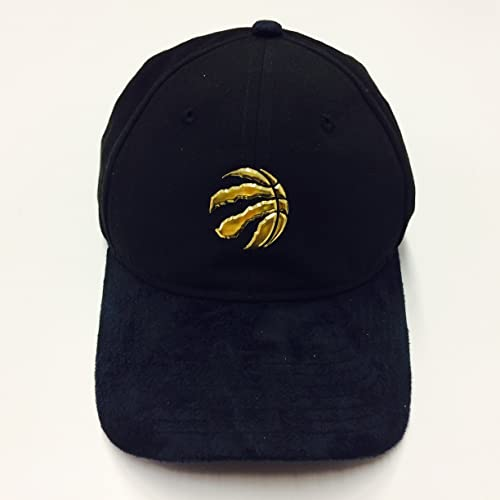 b6aed16bd3c Men's Toronto Raptors New Era Black 2017 NBA Gold Logo On Court Collection  9TWENTY Adjustable Hat