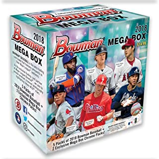 2018 MLB Baseball Trading Card Topps Bowman Mega Box w/Chrome Pack - SOLD OUT!