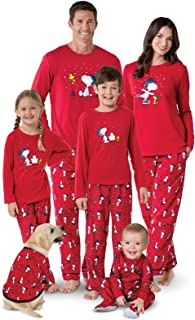 Family Pajamas Matching Sets - Snoopy Pajamas, Red
