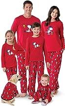 PajamaGram Family Pajamas Matching Sets - Snoopy Pajamas, Red