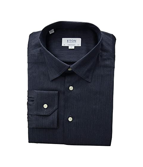 Eton Contemporary Fit Solid Flannella Button Down Shirt