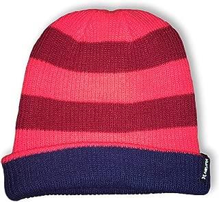 Hurley Kids Reversible Switch It Up Beanie Hat in Crimson, Vivid Orange & Navy Blue