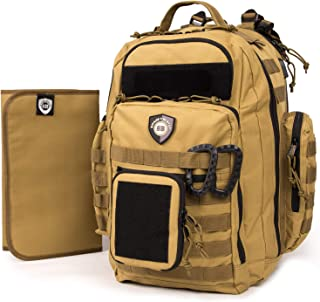 Swanky Beaver Nappy Bag Backpack, Hiking Diaper Bag USB, Tactical Adventure Gear for Dads with Changing Pad, Daddy Diaper ...