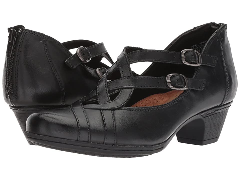 Rockport Cobb Hill Collection Cobb Hill Abbott Curvy Shoe (Black Leather) Women