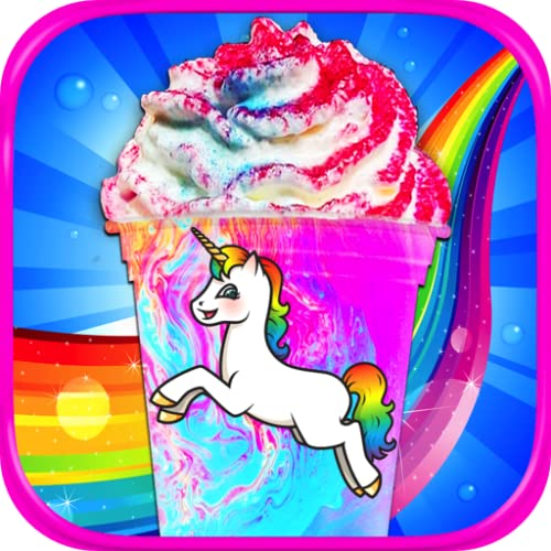Rainbow Unicorn Milkshakes - Kids Frozen Dessert Food Maker Games FREE