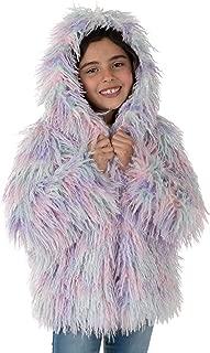Donna Salyers' Fabulous-Furs Kids Multi-Color Alpaca Hooded Faux Fur Coat