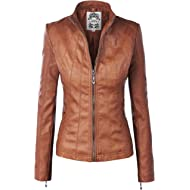 Lock and Love Women's Quilted... Lock and Love Women's Quilted Faux Leather Moto Biker Jacket