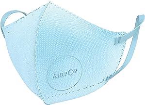 Airpop 4 Pk Blauw Herbruikbaar Wasbaar Gezichtsmasker voor Kinderen, 4-Laags Mond en Neus Masker, Voorgevormde Pasvorm, Li...