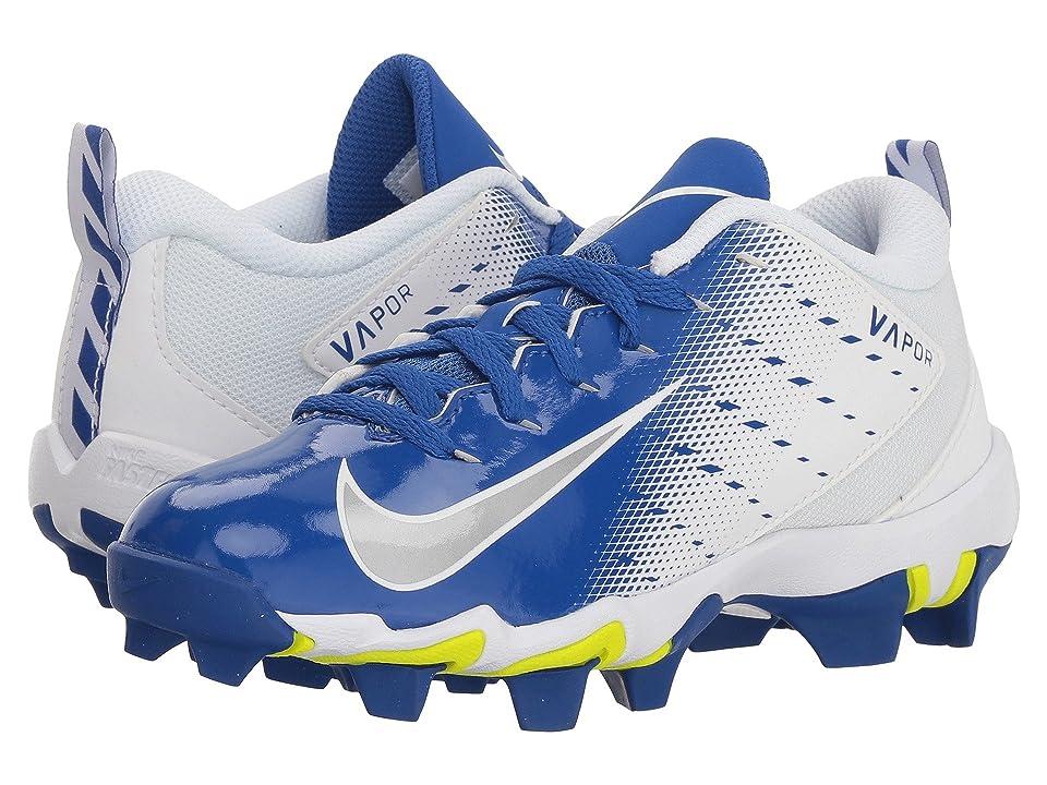 Nike Kids Vapor Untouchable Shark 3 Football (Toddler/Little Kid/Big Kid) (White/Metallic Silver/Game Royal) Kids Shoes