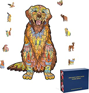Wooden Puzzles for Adults - Dog Animal Shape Jigsaw...