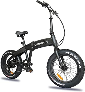 Overfly Folding Electric Bike 48V 500W Bafang Motor 7 Speed 10.4Ah Battery Electric Commuter Bicycle Ebike with Fat Tire - coolthings.us