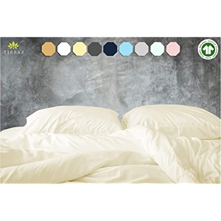 Twin Duvet Covers - 500-Thread-Count Organic Cotton Duvet Cover – 500TC Twin & Twin XL Size Natural – for Bedding - 100% GOTS Certified Extra Long Staple, Soft Sateen Weave Finish - Luxury Collection