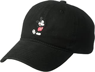 Disney Men`s Mickey Washed Twill Baseball Cap, Adjustable