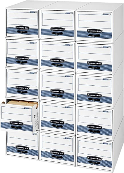 Bankers Box STOR DRAWER STEEL PLUS Extra Space Saving Filing Cabinet Stacks Up To 5 High Letter 6 Pack 00311