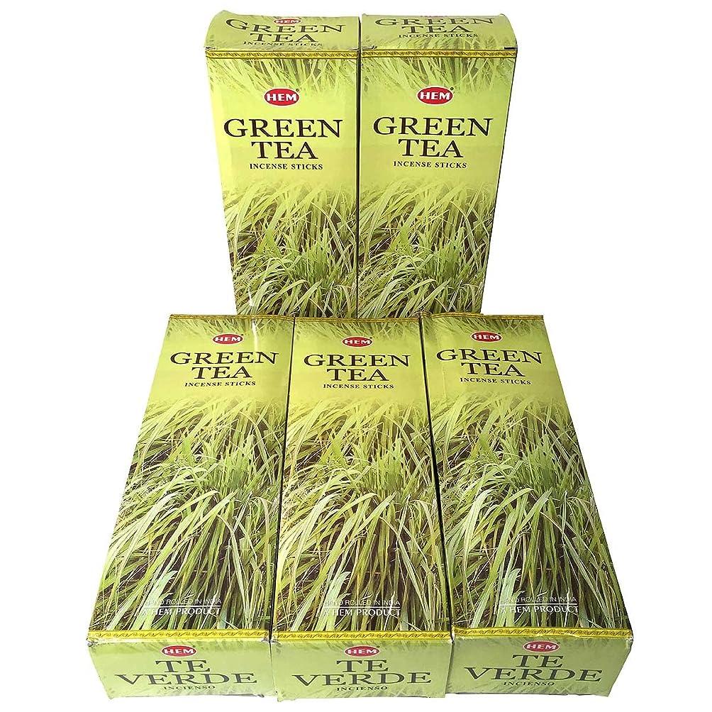 結果比較評価HEM グリーンティー香 スティック 5BOX(30箱)/HEM Green Tea/ インド香 / 送料無料 [並行輸入品]