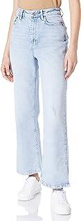 PIECES dames Jeans Pcsui Mini Wide Hw Ank Jeans Lb-ba Bc