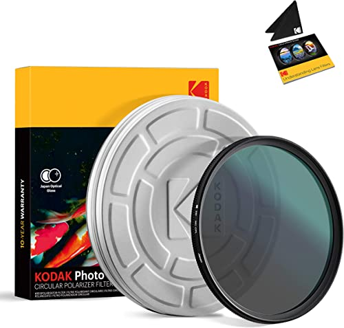 2021 KODAK 86mm CPL Lens Filter | Circular Polarizing Filter Removes Reflections from Glass & Water, Enhances Contrast high quality Improves Color Saturation, Super Slim, Multi-Coated 12-Layer Nano Glass & Mini online Guide sale