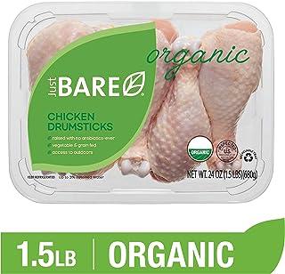 Just BARE USDA Organic Fresh Chicken Drumsticks | Antibiotic Free | Bone-In | 1.5 LB