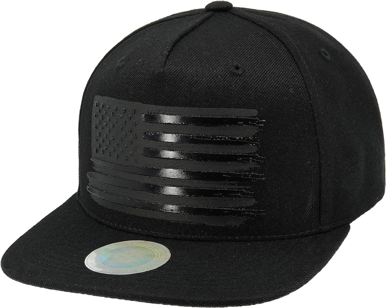 Flipper Premium USA American Flag 3D Printing Flat Brim Bill Baseball Cap Classic Snapback Hat for Men Women Version.2