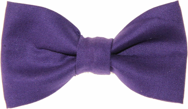 Toddler Boy 4T 5T Purple Clip On Cotton Bow Tie