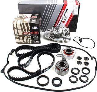New ITM186WPVC (113 Round Teeth) Timing Belt Seal Kit, Water Pump Set, Valve Cover Gasket (w/Grommets, Spark Plug Seals) for Honda 2.2L F22A F22B SOHC NON-VTEC