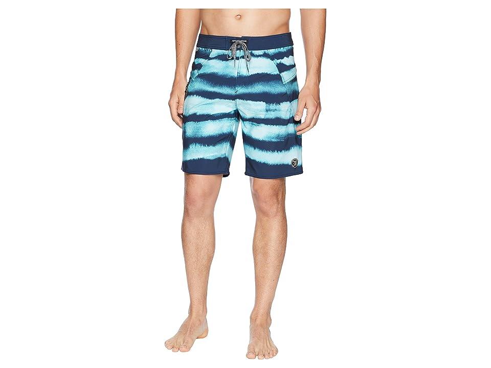 Roark Savage Buff Bay Boardshorts (Aqua) Men