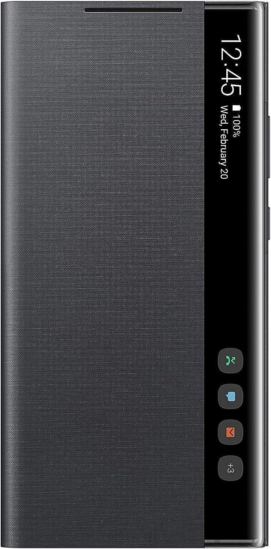 SAMSUNG Galaxy Note 20 Ultra Case, S-View Flip Cover - Black (US Version ) (EF-ZN985CBEGUS)