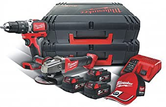 Milwaukee SET2P-503X Kit 18 V taladro con perca. Brushless + Amoladora de aceite