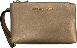 5d7537596efd Michael Kors Jet Set Travel Large Double Gusset Wristlet Bag Purse