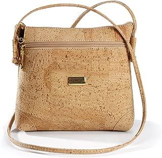 Cork Vegan Cross Body Bag Shoulder Bag | Natural Purse | Latest Design | Eco - Friendly | Front Pocket | Light Brown Color