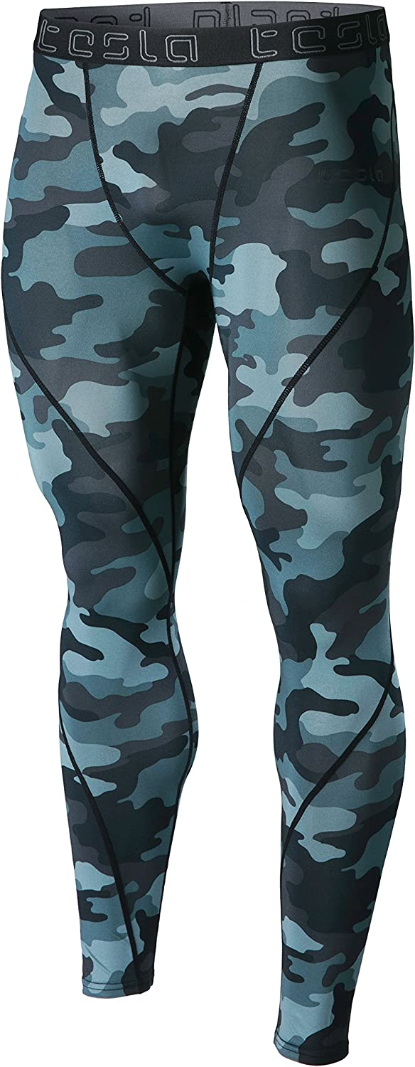 UV//SPF Running Tights Cool Dry Yoga Gym Clothes TSLA 1 2 or 3 Pack Mens UPF 50+ Compression Pants Workout Leggings
