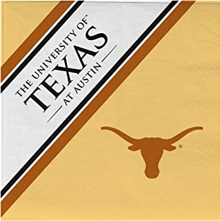 NCAA Texas Longhorns Disposable Paper Napkins, Pack of 20
