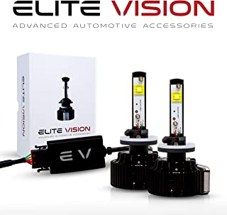 Elite Vision Advanced Automotive Accessories - Elite LED Conversion Kit 880 (886, 894, 896) for Bright White Headlights Bulbs, Low Beams, High Beams, Fog Lights