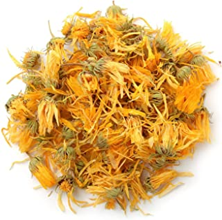 bMAKER Kosher Certified Dried Calendula Whole Flowers 1 Lb- Natural Calindula Officinalis Tea - Sourced from Egypt - Pot M...