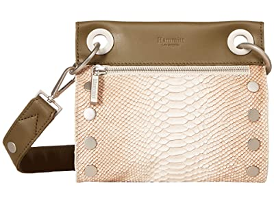 Hammitt Tony Small (Tan Anaconda/Moss Lust/Brushed Silver) Cross Body Handbags