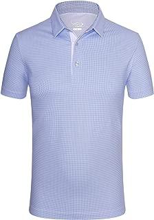 EAGEGOF Regular Fit Men's Shirt Stretch Tech Performance Golf Polo Shirt Short Sleeve