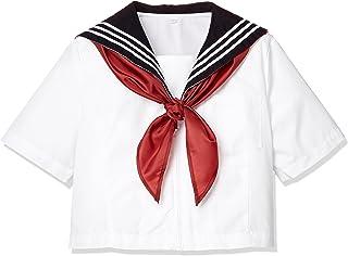 [キューポップ] スカーフ付きセーラー服(スクール・制服・学生服) 長袖・半袖 女子高生 TB-844