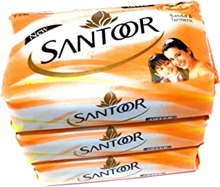 Santoor Sandal & Turmeric Soap - 100g (Pack of 3)