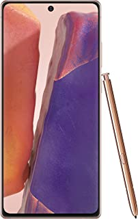 Samsung Electronics Galaxy Note 20 5G Factory Unlocked Android Cell Phone | US Version | 128GB of Storage | Mobile Gaming Smartphone | Long-Lasting Battery | Mystic Bronze (SM-N981UZNAXAA)