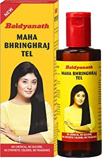 Baidyanath Mahabhringraj Tel - Ayurvedic Hair Oil, No Added Chemicals or Fragrance - 200ml