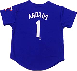 Elvis Andrus Texas Rangers Blue #1 Youth Player Fashion Jersey