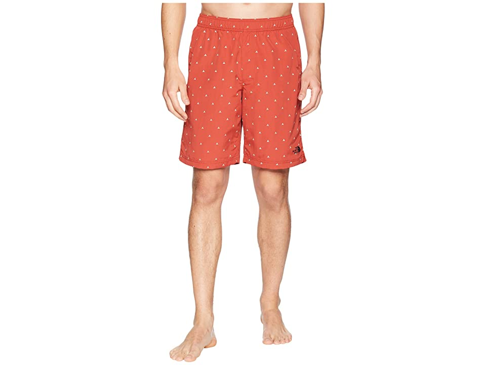 The North Face Class V Pull-On Trunk Long (Bossa Nova Red Tent Print) Men