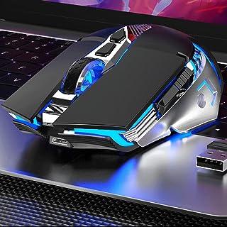 فأرة كمبيوتر بلوتوث لاسلكية يمكن شحنها، فأرة ألعاب لاسلكية مزدوجة الوضع الصامت فأرة الحاسوب المحمولة، متوافقة مع أجهزة الك...