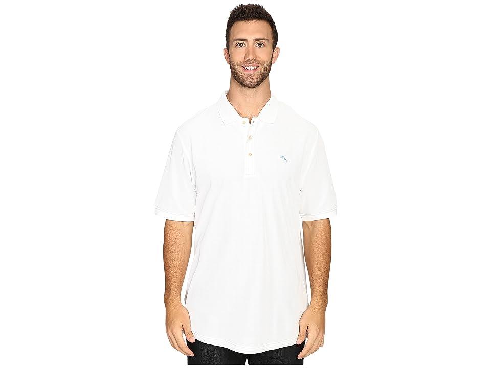 Tommy Bahama Big & Tall Big Tall Emfielder Polo Shirt (Bright White) Men