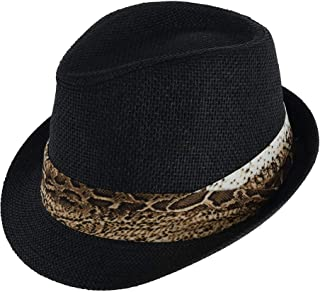 Jacobson Hat Company Toyo Fedora with Snakeskin Print Pleated Band