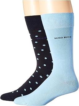 2-Pack Dot Cotton Socks