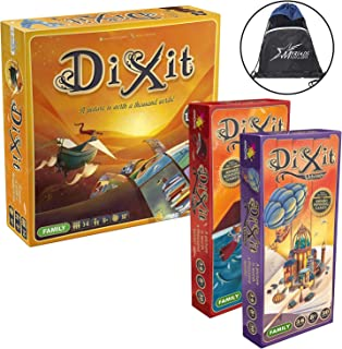 Asmodee Dixit Bundle of 3: Dixit Main Game, Quest Expansion and Odyssey Expansion