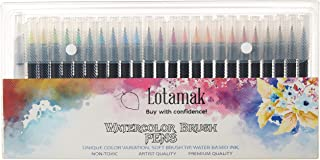LOTAMAK Real Brush Pens, 48 Colors for Watercolor Painting with Flexible Nylon BrushTips, Paint Markers for Coloring, Call...